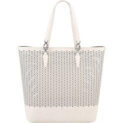 Torebki klasyczne damskie: Skórzana torebka w kolorze jasnopudrowym – (S)37 x (W)35 x (G)12 cm