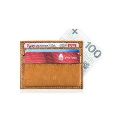 Portfele męskie: Skórzany portfel wizytownik męski SOLIER  ADELYN