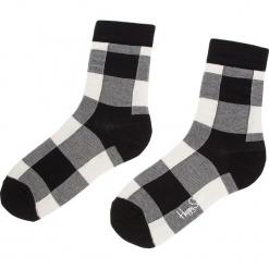 Skarpety Wysokie Unisex HAPPY SOCKS - GIH01-9000 Biały Czarny. Białe skarpetki damskie Happy Socks, z bawełny. Za 34,90 zł.