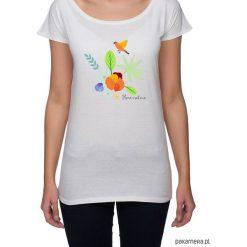Koszulka damska. kwiaty i ptaki. Szare t-shirty damskie Pakamera, w kwiaty. Za 85,00 zł.