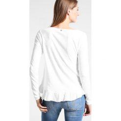 Bluzki asymetryczne: Rich & Royal SLUB PEPLUM Bluzka z długim rękawem white