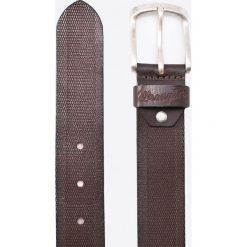 Wrangler - Pasek skórzany. Czarne paski męskie Wrangler, w paski, z materiału. W wyprzedaży za 129,90 zł.