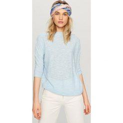 Swetry damskie: Melanżowy sweter - Niebieski