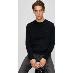 Tommy Hilfiger - Sweter. Czarne swetry klasyczne męskie TOMMY HILFIGER, l, z bawełny, z okrągłym kołnierzem. Za 399,90 zł.