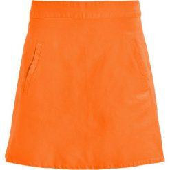 Spódniczki jeansowe: Mads Nørgaard STELLY SHORT Spódnica trapezowa deep orange