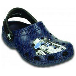 Crocs Buty Classic Star Wars R2D2 c3po Nautical Navy 24-26 (c8/c9). Niebieskie buciki niemowlęce chłopięce Crocs, z paskami. W wyprzedaży za 99,00 zł.