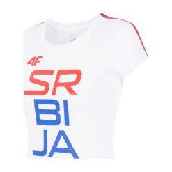 [S4L16-TSD711B] Replika koszulki damskiej Serbia Rio 2016 TSD711B - biały - 4F. Białe koszule nocne i halki 4f, l. Za 49,99 zł.