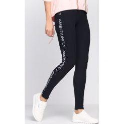 Spodnie damskie: Granatowe Legginsy Sporty Star