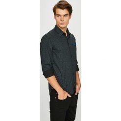 S. Oliver - Koszula. Szare koszule męskie na spinki marki S.Oliver, l, z bawełny, z włoskim kołnierzykiem, z długim rękawem. Za 159,90 zł.