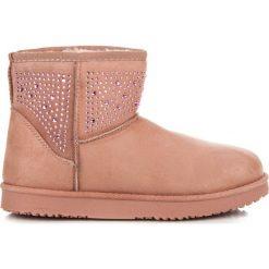 Buty zimowe damskie: Różowe śniegowce KAIA