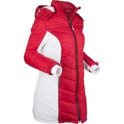 Płaszcz funkcyjny pikowany bonprix ciemnoczerwono-biały. Czerwone płaszcze damskie bonprix, s. Za 239,99 zł.