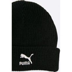 Puma - Czapka. Czarne czapki zimowe męskie marki Puma, na zimę, z bawełny. W wyprzedaży za 59,90 zł.