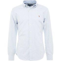 Polo Ralph Lauren OXFORD SLIM FIT Koszula blue/white. Szare koszule męskie slim marki Polo Ralph Lauren, l, z bawełny, button down, z długim rękawem. Za 419,00 zł.
