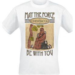 T-shirty męskie z nadrukiem: Star Wars Chewbacca & Friends T-Shirt biały