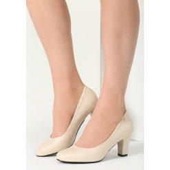 Buty ślubne damskie: Ciemnobeżowe Czółenka Lovers