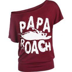 Papa Roach Logo Koszulka damska bordowy. Czerwone bluzki damskie Papa Roach, xl. Za 121,90 zł.