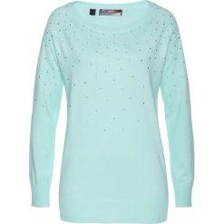 Swetry damskie: Sweter bonprix pastelowy miętowy