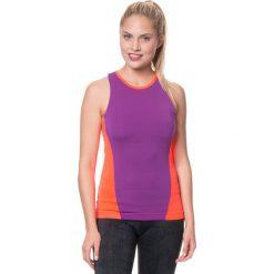 Topy sportowe damskie: Top w kolorze fioletowo-jaskrawopomarańczowym do biegania
