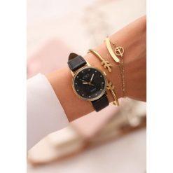 Zegarki damskie: Czarny Zegarek Perfect Timing