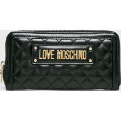 Love Moschino - Portfel. Czarne portfele damskie marki Love Moschino, z materiału. Za 439,90 zł.