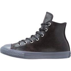 Converse CHUCK TAYLOR ALL STAR HI BLACK/BLACK/SHARKSKIN YOUTH Tenisówki i Trampki wysokie black/sharkskin. Czarne trampki chłopięce Converse, z materiału. W wyprzedaży za 148,85 zł.