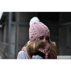 Czapki zimowe damskie: BRAID II Czapka z futerkiem różowa