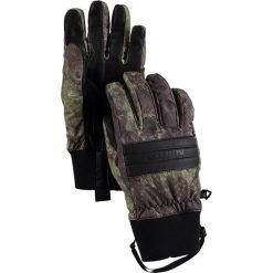 """Rękawiczki """"Dam"""" w kolorze oliwkowo-czarnym. Brązowe rękawiczki damskie marki Burton. W wyprzedaży za 84,95 zł."""