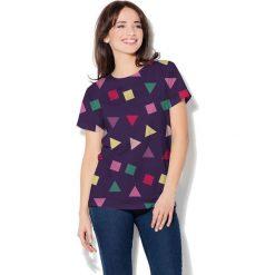 Colour Pleasure Koszulka damska CP-030 115 fioletowa r. XL/XXL. Fioletowe bluzki damskie marki Colour pleasure, uniwersalny. Za 70,35 zł.