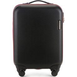 Walizka kabinowa 56-3-610-10. Czarne walizki marki Wittchen, z gumy, małe. Za 219,00 zł.
