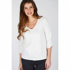 """Koszulka """"Jackys"""" w kolorze kremowym. Białe t-shirty damskie Scottage. W wyprzedaży za 63,95 zł."""