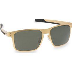 Okulary przeciwsłoneczne OAKLEY - Holbrook Metal OO4123-0855 Stn Gold/Dk Grey. Żółte okulary przeciwsłoneczne męskie aviatory Oakley, z tworzywa sztucznego. W wyprzedaży za 549,00 zł.
