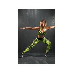Legginsy damskie do fitnessu: Legginsy ETNO – limonka