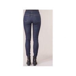 Jeansy slim fit MICHAEL Michael Kors  BTTN FRT HW SKINNY. Niebieskie rurki damskie MICHAEL Michael Kors, z jeansu. Za 583,20 zł.