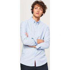 Koszula z mikroprintem slim fit - Niebieski. Niebieskie koszule męskie slim marki Reserved, l. Za 99,99 zł.