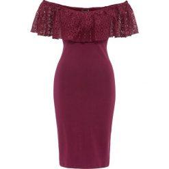 """Sukienki: Sukienka z dekoltem """"carmen"""" bonprix czerwony rododendron"""