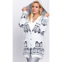 Swetry damskie: Biało-Granatowy Kardigan Most of You