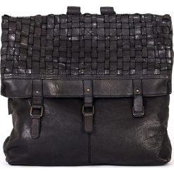Plecaki damskie: Skórzany plecak w kolorze czarnym – 37 x 34 x 9 cm