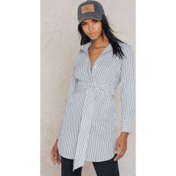 Koszule body: Glamorous Koszula z wiązaniem z przodu - Grey,Multicolor