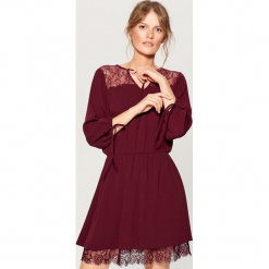 Sukienka z koronką - Fioletowy. Fioletowe sukienki koronkowe marki DOMYOS, l. Za 139,99 zł.