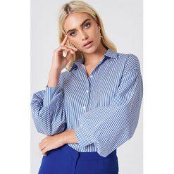 Koszule w niebieskie paski: Trendyol Koszula w paski z bufiastym rękawem – Blue,Multicolor