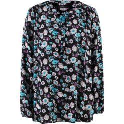 Tuniki damskie w kwiaty: Tunika z długim rękawem bonprix czarny w kwiaty