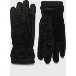 Jack & Jones - Rękawiczki skórzane. Czarne rękawiczki męskie Jack & Jones, z materiału. W wyprzedaży za 179,90 zł.