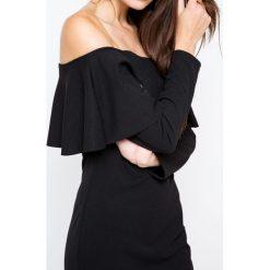 Długie sukienki: Sukienka z dekoltem carmen czarna