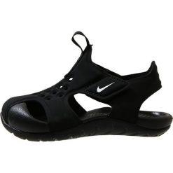 Nike Performance SUNRAY PROTECT 2 Sandały kąpielowe black/white. Czarne sandały dziewczęce Nike Performance, z materiału. Za 129,00 zł.