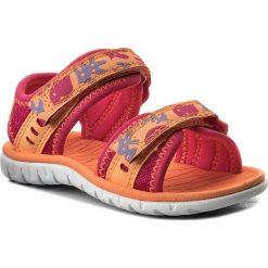 Sandały dziewczęce: Sandały CLARKS – Surfing Moon 261313446 Berry Combi