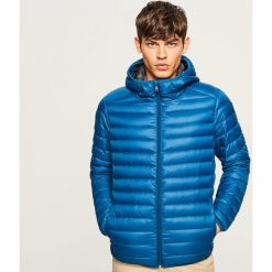 Kurtka z naturalnym puchem - Niebieski. Niebieskie kurtki męskie puchowe marki Reserved, l, z puchu. Za 259,99 zł.