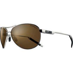 """Okulary przeciwsłoneczne męskie: Okulary przeciwsłoneczne """"Cockpit"""" w kolorze srebrno-brązowym"""