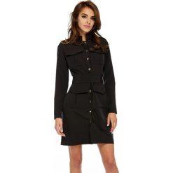 Sukienka military oll9. Czarne sukienki balowe marki bonprix, do pracy, w paski, moda ciążowa. W wyprzedaży za 159,00 zł.