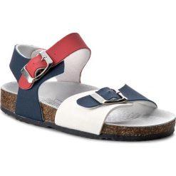 Sandały PRIMIGI - 7158200 M Blu/Bco/Ros. Białe sandały męskie skórzane marki Born2be, na sznurówki. W wyprzedaży za 99,00 zł.
