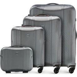 Zestaw walizek 56-3P-91K-00. Szare walizki marki Wittchen, z gumy, duże. Za 870,48 zł.